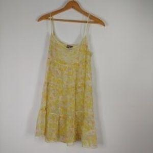 Free People Floral Sheer Babydoll Dress